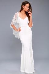 Women dress party dress wedding dress women clothes formal dress white m