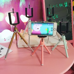 Mini Colorful Stretching Binodal Tripod  for Mobile Phones and DSLR Cameras pink