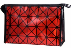 Jomax 3D geometric pattern hand-held way cosmetic bag(08111526) red