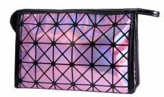Jomax 3D geometric pattern hand-held way cosmetic bag(08111526) pink