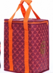 Jomax High quality non-woven film insulation aluminum film lunch bag( 009) purple