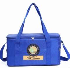 Jomax Oxford cloth covered thermal insulation aluminum film lunch bag( 012) blue