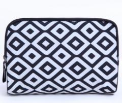 Jomax Large-capacity hand-held travel storage cosmetic bag wash bag(8) white & black