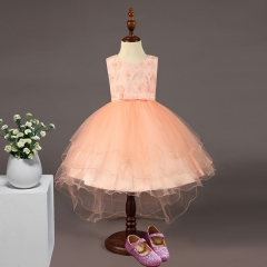 New summer Children Dresses baby girls clothes Formal Wear Princess Dresses 90-110cm pink 90cm