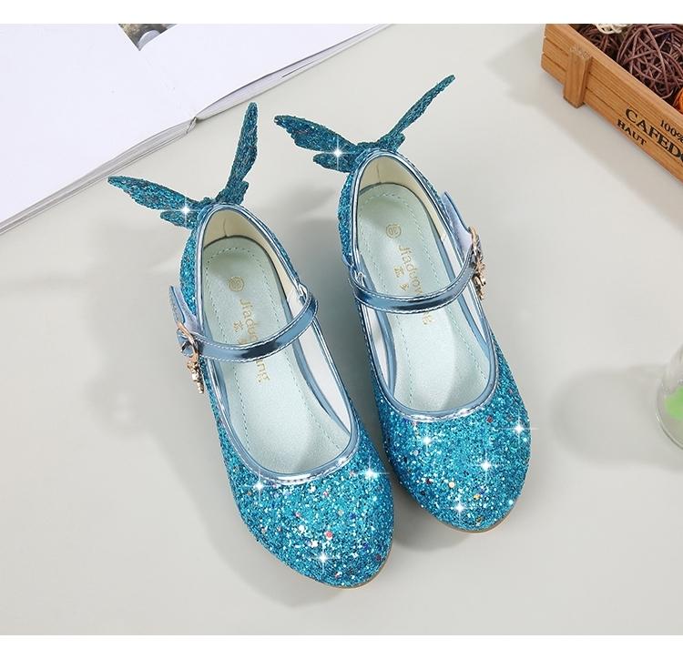 3fdc916601e3 summer fashion Girls Sandals Cute Butterfly High Heels Bling Kids ...