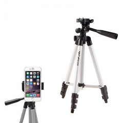 Universal Portable Tripod Stand with mobile phone holder for DSLR Cameras Nikon Canon Sony brand black
