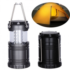 30 LED camping light telescopic tent light lighting emergency light outdoor portable pony light black 3W