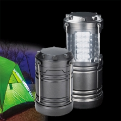 New 30led magnet camping light outdoor telescopic tent light multi-function portable hook grey 3w