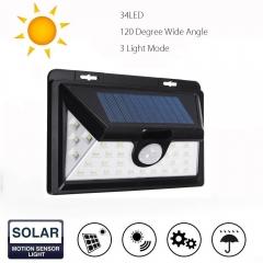 Enhanced Edition 34 led 40 led new outdoor solar body induction wall lamp 40led black solar energy