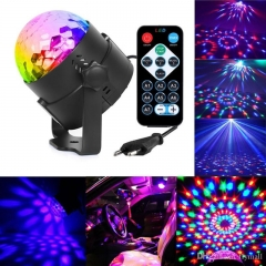 Mini Crystal Magic Ball Sound Activated Disco Ball Stage Lamp  Christmas  Dj Club Party No remote control USB port power supply MINI 9.5CM