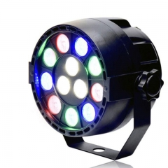 LED Par Lights with 12led  DMX Control  LED Spotlight for Party DJ Disco Bar Stage Lighting US Plug 12LED
