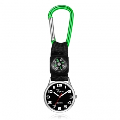 Outdoor sports compass watch business casual sports nurse watch green one size