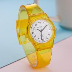 Quality goods 266 quartz watch transparent fashion student table boy girl child watch kid watch yellow