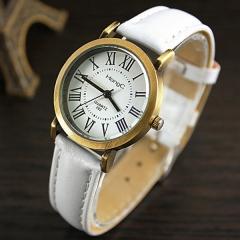 High quality vintage quartz watch female watch girl watch belt children middle school table white