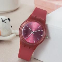 High quality Korean student watch fashion casual watch quartz watch tide men and women watch Scarlet