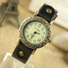 Chinese style retro watch nostalgic classic fashion fashion watch ladies elegant quartz watch Black belt retro