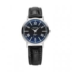 High quality ladies watch Simple fashion business waterproof quartz watch wrist Black belt black plate