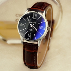 New ladies watch women's business quartz watch women's watch fashion watch brown belt black plate