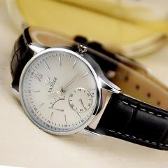Watch female models small watch quartz watch waterproof casual simple belt ladies watch fashion Black