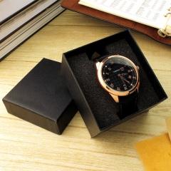 Dark pattern square watch case watch box watches packaging hand gift box black