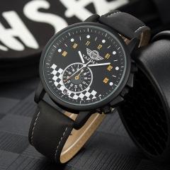 Trendy business models Korean version of the big black frame quartz watch men's couple watches Black dial black strap