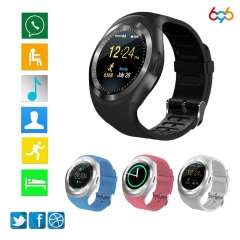 Bluetooth Y1 Smart Watch SmartWatch GSM Sim Remote Camera Information Display Sports Pedometer white Standard