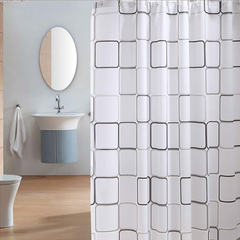 Dayroom Shower Curtain Liner With Hooks 180*180 Cm White 180*180
