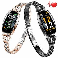 Luxury Smart Watch Pedometer Sport Bracelet Heart Rate Monitor Waterproof Smartwatch For Android iOS black normal