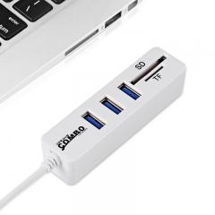 Multi USB 2.0 Hub USB Splitter High Speed 3 Ports Hab TF SD Card Reader For PC Computer Accessories usb combo 2.0