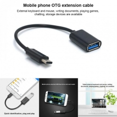 Type-C OTG Adapter Cable USB 3.1 Type C Male To USB 3.0 A Female OTG Data Cord Adapter black (USB 3.0)
