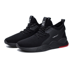 Fashion Men Outdoor Running Shoes Breathable Athletic Training Shoes Comfortable Sports Sneakers black 39