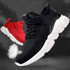 Fashion Unisex Outdoor Running Shoes Mesh Breathable Couple Shoes Sneakers For Woman And Men black 36