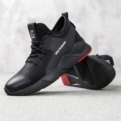 Explosive Men's Rubber Sports Shoes Casual Low to Help Fashion Running Sneakers black 39