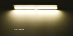 10 LED Battery Powered PIR Motion Sensor Lamp Closet Cabinet Wardrobe Stairway Wireless Night Light warm white light 18cm 0.8W