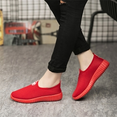 Women Fashion Solid Color Shoes Ladies Casual Cotton Cloth Shoes Old Beijing Women Shoe Couple Shoes red 35