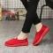 Women Fashion Solid Color Shoes Ladies Casual Cotton Cloth Shoes Old Beijing Women Shoe Couple Shoes red 35