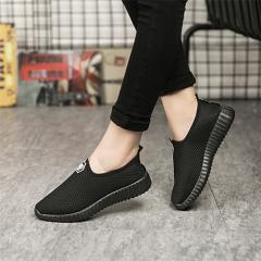 Women Fashion Solid Color Shoes Ladies Casual Cotton Cloth Shoes Old Beijing Women Shoe Couple Shoes black 41