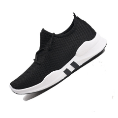Fashion Unisex Trendy New Shoes Breathable Running Solid Color Shoes Women Men Sneakers Couple Shoes black 44