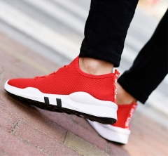 Fashion Unisex Trendy New Shoes Breathable Running Solid Color Shoes Women Men Sneakers Couple Shoes red 36