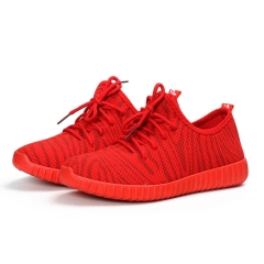 1 Pair Zebra Women Shoes Ladies Casual Shoes Trendy Breathable Shoes Tide Shoes Fashion Sneakers red 36