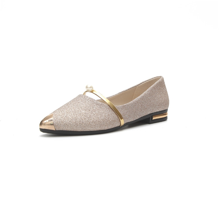 83de71a702 Fashion Women Shallow Mouth Wild Pointed Shoes Ladies Solid Color Shoes  Female PU leather Shoe Flats