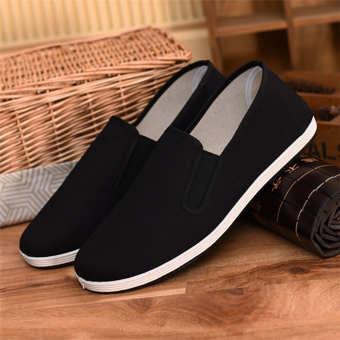 a9dfef48761 Hot Sale Unisex Old Beijing Fabric Cloth Shoes Casual Flats Work Shoes Men  Women Breathable Shoes black(yellow sole) 35