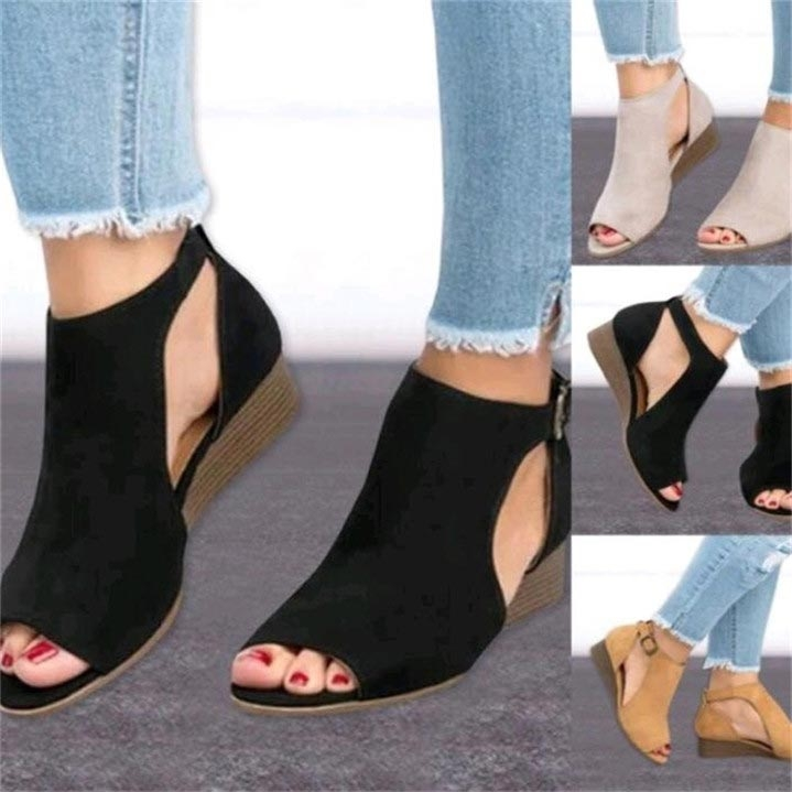 1bbebae9120c Heel Type  Wedges With Platforms  Yes Platform Height  0-3cm. Lining  Material  PU Fit  Fits smaller than usual. Please check this store s sizing  info