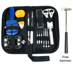 14pcs Watch Repair Tool Set Watch Link Opener Remover Holder Kit Watch Instruments Set as picture