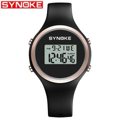 1 PCS SYNOKE Women Watch Sport LED Digital Waterproof Lady Fitness Smartwatch Swimming Digital Clock black one size