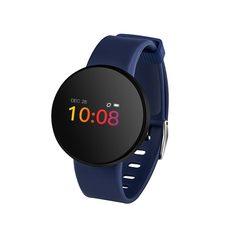 Heart Rate Monitor Smart Watch Women Men Waterproof Fitness Blood Pressure Pedometer Sports Watches blue one size