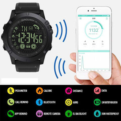 1PCS Smart Sport Watch Waterproof Alarm Stopwatch Mate Camera For IOS Android Sport Smartwatches black one size