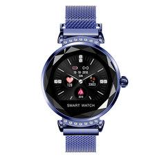 1PCS Fashion Smart Watch Women 3D Diamond Glass Heart Rate Blood Pressure Sleep Monitor Smartwatch sky blue one size