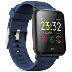Q9 Smart Watch Waterproof Blood Pressure Heart Rate Monitor Sport Trakcer Watch Men Women Smartwatch coral blue one size