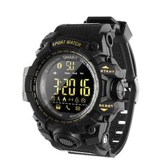 1PCS Smart Watch Men Camo Running Step Passometer Sleep Monitor Call Reminder Stopwatch Smartwatch black one size